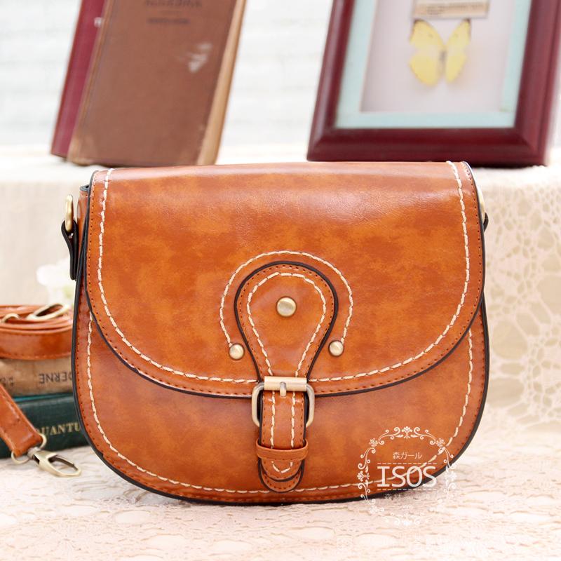 free shipping new 2014 Isos bags 2014 bag vintage small fresh preppy style rivets messenger bag messenger bag(China (Mainland))