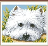 Diy handmade diamond painting home decoration rhinestone square drill resin diamond Lovely dog fashion home decoration