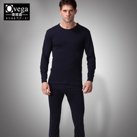 Male underwear split long johns long johns thermal set 100% cotton solid color o-neck thin 21003