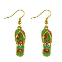 sports jewelry for beautiful enamel flip flops earrings (E104898)