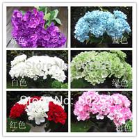 7 head silk fleece seashells  hydrangea ball home decoration Wedding Bouquet Artificial Flowers 6Colors Available