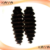 Wholesale Price remy human hair weave natural  deep wave  Brazilian human hair weft no shedding no dyed hair extension CB64