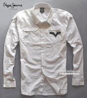 Eslpodcast pepe jeans Men white double slim long-sleeve shirt