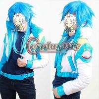 Custom Made DMMD  Dramatical Murder Seragaki Aoba Cosplay Costume(Jackets+Belt+T-shirt+Shoe Cover)
