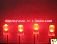 5mm Mouse Red Long Leg 2-Pin Dip LED ( CE & RoHS )