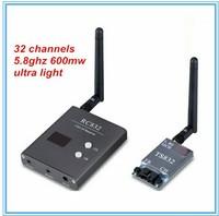 32 Channel 5.8G 600MW Wireless RF A/V Transmitter receiver compatible Boscam, fatshark ,dji phantom 2