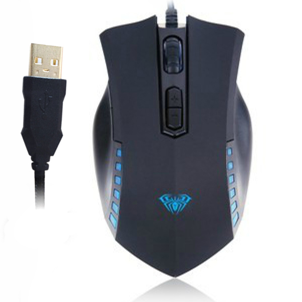 7D Manum Gaming Athletics Wired Gilded USB Mouse Up to Resolution 2000 DPI with Four - gear Adjustable(China (Mainland))