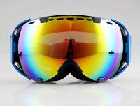 Blue/Black Frame Color Double Lens adult ski snowboard goggles NEW