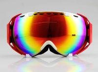 New Red/Beige Frame Anti-fog Coloured Double Lens adult snowboard ski goggles