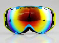 Ski goggles Anti-fog Coloured Double Lens adult snowboard Light blue Frame