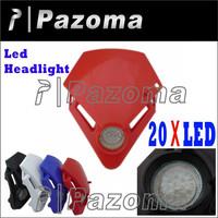 PAZOMA MOTORCYCLE  LED Head Light Motorcycle Street Fighter Dual Sport for Ducati Honda Ktm Custom