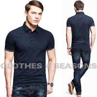 Mens Polo Shirts brand 2014 Summer Good Quality Cotton Shirt Short Sleeve Pure Color Slim Fit Men's Polo Shirt