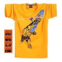 2014 Sale New Arrival Freeshipping Summer Plus Size Male Short-sleeve T-shirt 100% Cotton Undershirt Sports Large Basic O-neck
