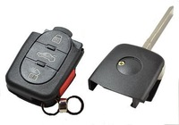 Entire Oval Round Remote 3 button+Panic Car Key Shell FOR BEETLE JETTA  PASSAT GOLF VW VOLKSWAGEN Vehicles