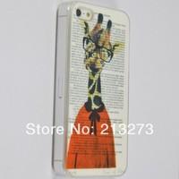Min Order is US$ 15 (Mix Order) Doctor Giraffe Plastic Mobile Case Fits 5/5S USLT073 Free Shipping