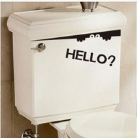 Funny Bathroom Seat Toilet Sticker Monster Decor Hello Removable Wall Art Decal Free Shipping