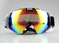 Black & White Frame Adult Snowboard Ski Goggles Anti-Fog Double Lens coloured