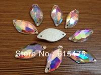 3200 Flower petal 10*20mm Glass crystal Leaf Shape Sew on Rhinestone Clear AB,beauty fish sew on stones sew crystal