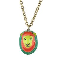 2014 Design Long Necklace Lion Head Necklace 2014