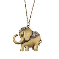 Golden Elephant  Fashion Necklace Wholesale