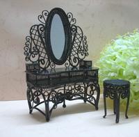 European creative gifts for children mini dollhouse furniture, wrought iron, wrought iron mini dresser free shipping