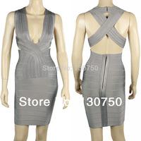Spring 2014 New Bandage  dress Europe and America Evening Dress large size  models  Free Shipping