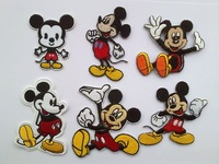 Mickey Mouse iron on patches embroidered Motif Applique boy cloth patches kids accessories 12pcs/lot Free shipping