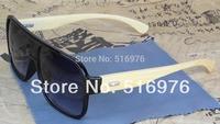 2015 Classics Oculos De Sol Retro Aviator Glasses Frame Trendsetter Bamboo Legs Sunglasses Designer Custom Optical Lens J0122