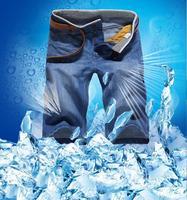 2014 summer newly men's demin shorts jeans famous brand slim straight cotton denim designer ripped jeans for men large size 38