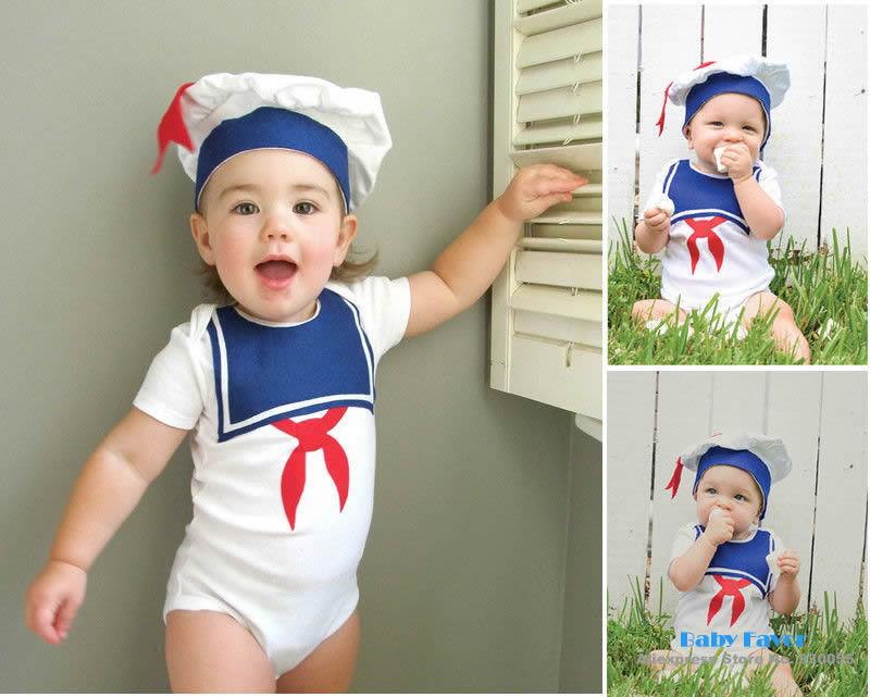Livre Infantil envio Bebe Bebê recém-nascido Meninas Meninos Unissex Sailor Hat Cap + Body Clothing Set Suit Costume Marinha 0-18 Meses(China (Mainland))