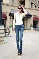 Free Shipping Plus Size Print Slim Skinny Pants Women Pencil Pants Trousers Winter Jeans Trousers Pants Ladies Women 558