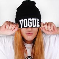 LHT27 Unisex Women Men Knitted Vogue Black Beanie Cap Hat 2014 New Free Drop Shipping