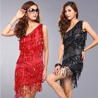 Fashion street oblique slim one-piece dress light sexy tube top pullover Latin one-piece dress dance dress