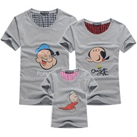 1pc retail summer parents-children tees women men lovers t shirt Mum/baby/dad family clothes masha BF24