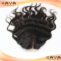 Hot selling no shedding high quality remy human hair pieces curly Brazilian human hair cheap lace closure CB148