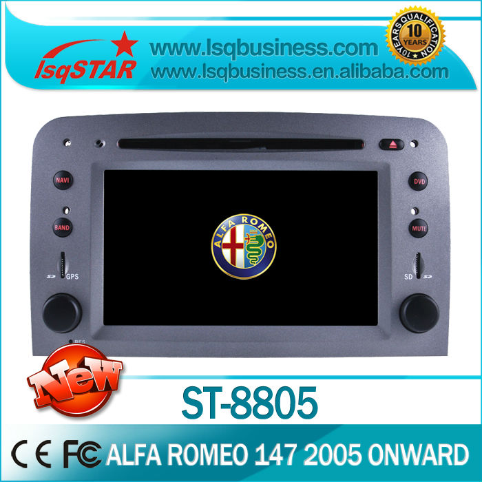 auto media player for Fiat Alfa Romeo 147 with gps radio bluetooth steer wheel(China (Mainland))