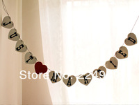 Free Shipping Just Married Wedding Vintage Bunting Banner Party Decorations Prop DIY Handmade
