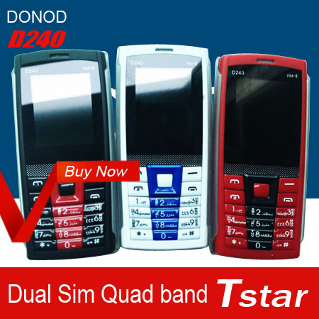 cheap phone DONOD D240 Quad Band Dual SIM cell phone FM Mobile phone with mp3 mp4 flashlight Unlock mobile phone GSM hot selling(China (Mainland))