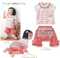 5pcs/lot summer baby girl clothing set 100%cotton toddler clothes floralT-shirt+cute shorts new 2014 outerwear children girls