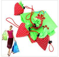 10pcs/lot free shipping creative large strawberry shopping bags/ fashion bags/ folding portable storage bag
