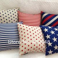 Polka dot stripe 45 cm pillow cover auto cushion cover sofa brief