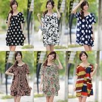 2014 Spring Ladies' Elegant Slim Short-sleeve V-neck Dress Plus Size Dress  ST-PL016