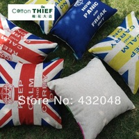 Britain flag linen pillow cushion sheath rustic 45cm sofa car pillow nap pillow