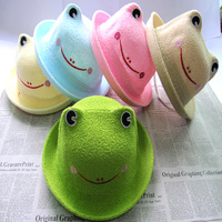 Baby child frog fedoras animal style cap baby bucket hats spring and summer hat