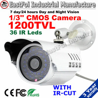 "Freeshipping! promotion 1200tvl 1/3"" cmos 36 ir Ledssecurity cctv cameras  outdoor waterproof camera with  color image"