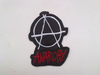 ANARCHY iron on patches band badge fabric clothes patch stickers embroidery needle wholesale 100pcs/lot Free shipping