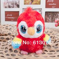 "Big size - Yoohoo Friends Stuffed Plush Scarlet Macaw toy - 8"" Lora,Fabrics Stuffed big eyes soft animal Toy"