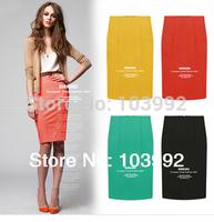 2014 new high waist women package hip skirt women clothing Knee-length skirt pencil skirts D8026,free shipping