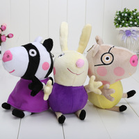 3pcs/lot 19CM/7.48 inch 2014 New Peppa pig series Peppa friends 3 styles Plush Doll Toy new arrival