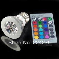 E27 3W 3 Watt Color RGB LED Light Lamp Bulb with Remote Control 85~265V